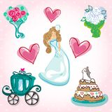 Fairytale wedding Stock Photo