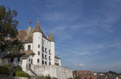 Fairytale white castle in Nyon 1 Stock Photos