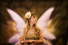 Fairytale woman. Fairytale portrait of a woman Royalty Free Stock Image