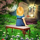 Fairytaleboek stock illustratie