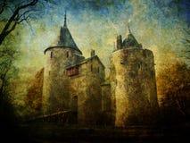Fairytalekasteel Coch stock afbeeldingen
