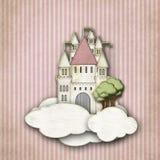 Fairytalekasteel in de wolken vector illustratie