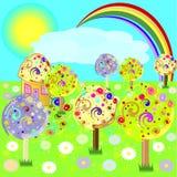Fairytalelandschap Stock Afbeeldingen
