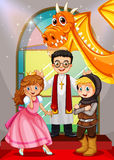 Fairytales characters in the church Royalty Free Stock Photography