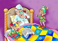 Fairytales  trolls waking up an old man Stock Photos