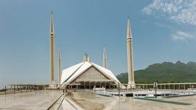 Faisal清真寺,伊斯兰堡,巴基斯坦 库存照片