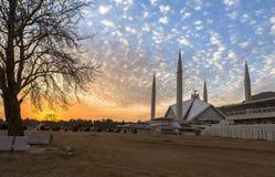 Faisal Mosque em Islamabad, Paquistão Imagem de Stock Royalty Free