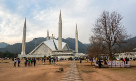 Faisal Mosque en Islamabad, Paquistán Imagen de archivo