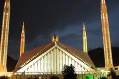Faisal Mosque fand in Islamabad lizenzfreies stockbild