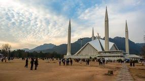 Faisal Mosque i Islamabad, Pakistan Arkivbilder