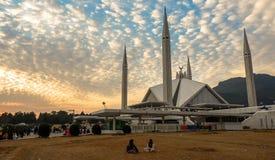 Faisal Mosque i Islamabad, Pakistan Royaltyfria Bilder