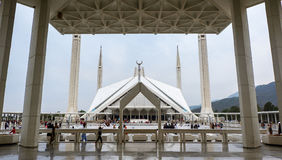 Faisal Mosque i Islamabad, Pakistan Royaltyfri Foto