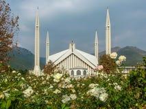 Faisal Mosque Islamabad Pakistan fotografia stock libera da diritti