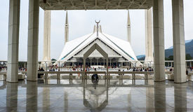 Faisal Mosque in Islamabad, Pakistan. This photo is taken in Islamabad capital, Pakistan. Faisal Mosque Urdu: فیصل مسجد‎ is the mosque in Islamabad Stock Photos