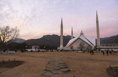 Faisal Mosque in Islamabad, Pakistan. This photo is taken in Islamabad capital, Pakistan. Faisal Mosque Urdu: فیصل مسجد‎ is the mosque in Islamabad Stock Images