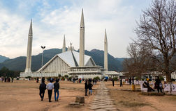 Faisal Mosque in Islamabad, Pakistan Royalty Free Stock Image