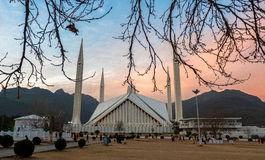 Faisal Mosque in Islamabad, Pakistan Stock Images