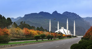 Faisal Mosque Islamabad Pakistan Royalty Free Stock Image