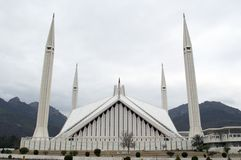 Faisal mosque islamabad Royalty Free Stock Photography