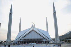 Faisal Mosque. The Faisal Mosque is the largest mosque in Pakistan, located in the national capital city of Islamabad Stock Image