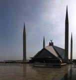 Faisal Mosque nella capitale di Islamabad del Pakistan fotografie stock