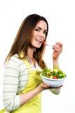 Faisant cuire et mangeant des légumes Images stock