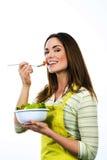 Faisant cuire et mangeant des légumes Photographie stock libre de droits