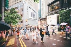 Faisant des emplettes sur la baie de chaussée en Hong Kong, la Chine Photographie stock