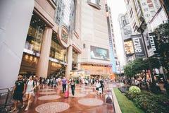 Faisant des emplettes sur la baie de chaussée en Hong Kong, la Chine Photo libre de droits