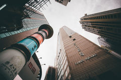 Faisant des emplettes sur la baie de chaussée en Hong Kong, la Chine Image stock