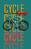 Faisant un cycle, bicyclette, affiche de vélo d'amusement Photos libres de droits