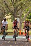 Faisant un cycle en parc centennal, Sydney Images stock