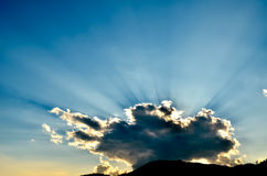 Faisceau de lumière du soleil Photographie stock libre de droits