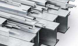 Faisceau en acier 3d en métal Illustration Stock