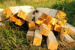 Faisceau en bois Photo libre de droits