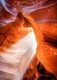 Faisceau lumineux au canyon d'antilope Image stock