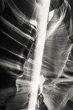 Faisceau lumineux au canyon d'antilope Photographie stock