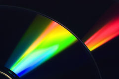 Faisceau lumineux sur le DVD Image libre de droits