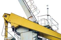 Faisceau supérieur de grue de port sur le blanc Image libre de droits
