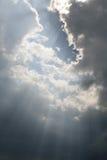 Faisceaux de ciel Photo libre de droits