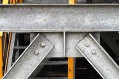 Faisceaux de construction d'acier inoxydable Photographie stock