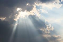 Faisceaux de Dieu Image stock
