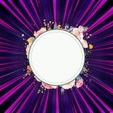 Faisceaux de lumière colorés abstraits avec un cadre artistique abstrait pour un texte illustration libre de droits