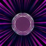 Faisceaux de lumière colorés abstraits avec un tireur isolé Aiming Target illustration de vecteur
