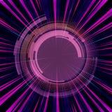 Faisceaux de lumière colorés artistiques avec un tireur isolé Aiming Target illustration libre de droits