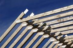 Faisceaux de toit photo libre de droits