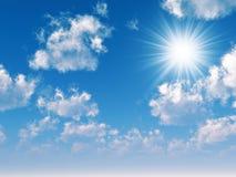 Faisceaux du soleil Photographie stock libre de droits