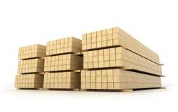 Faisceaux en bois pour le bâtiment illustration de vecteur