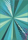 Faisceaux et image tramée de dispersion Illustration de Vecteur