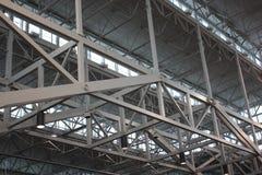 Faisceaux et rivets structurels photographie stock